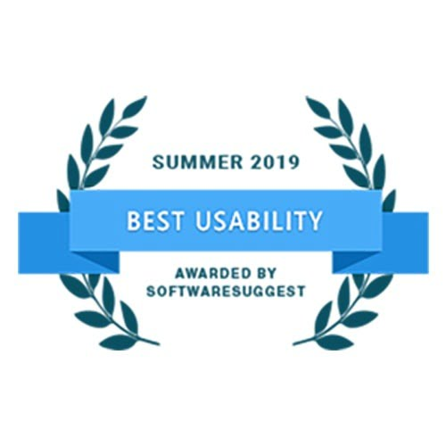 Best Usability Award 2019 by Software Suggest